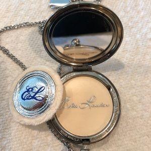 Estee Lauder vintage silver hours powder compact